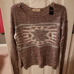 Hollister Lightweight Tribal Sweater NWT